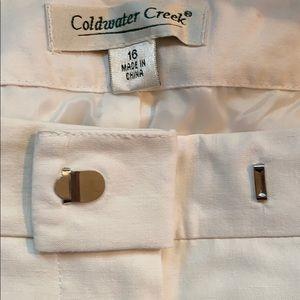 Coldwater Creek silk/linen lined pants